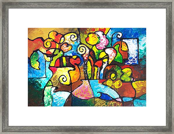 Two Bouquets Framed Print