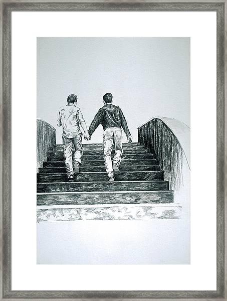 Two Boys Framed Print