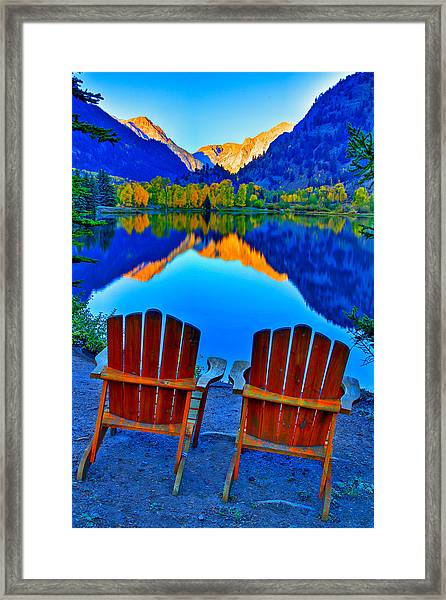 Two Chairs In Paradise Framed Print