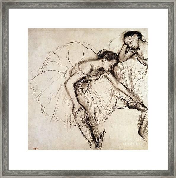 Two Dancers Resting Framed Print
