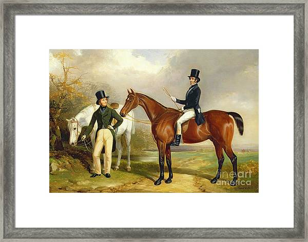 Two Gentlemen Out Hunting  Framed Print