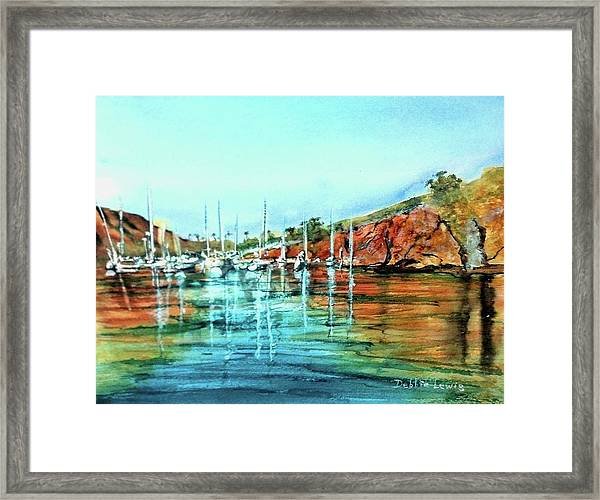 Two Harbors Catalina Morning Impressions Framed Print