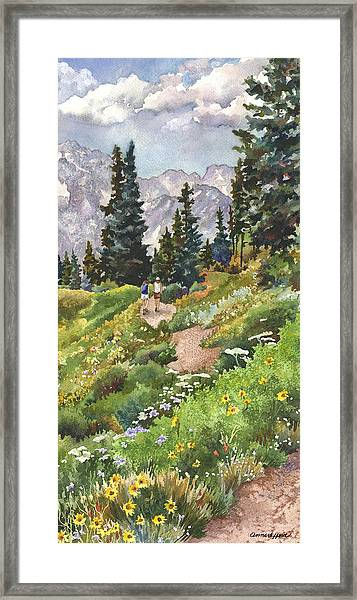 Two Hikers Framed Print