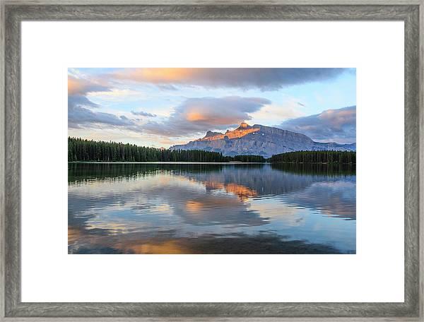 Two Jack Lake, Banff National Park Framed Print