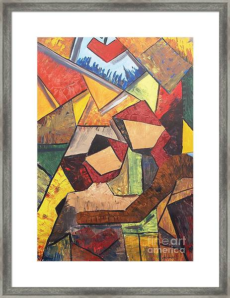 Two Lovers In New York Framed Print