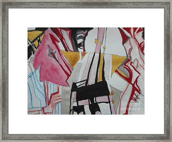 Two Musicians Framed Print