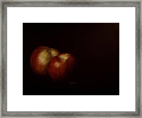 Two Nectarines Framed Print