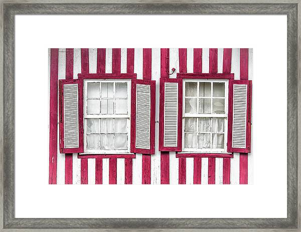 Two Old Windows Framed Print