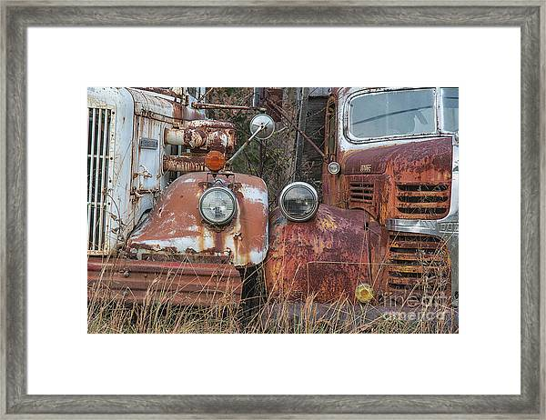 Two Old Workers Framed Print