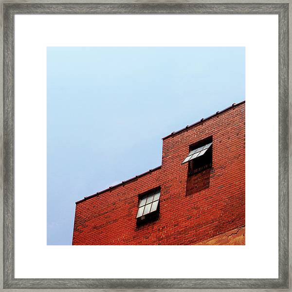 Two Open Windows- Nashville Photography By Linda Woods Framed Print