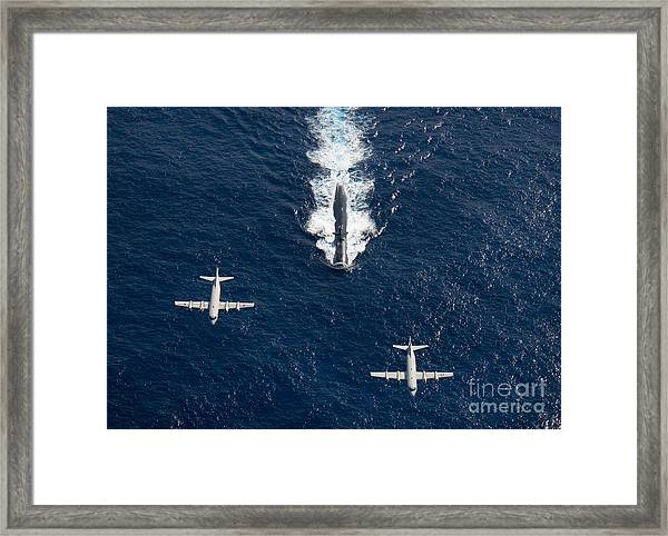 Two P-3 Orion Maritime Surveillance Framed Print