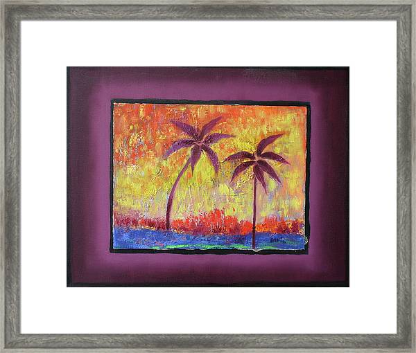 Two Palm Trees Framed Print