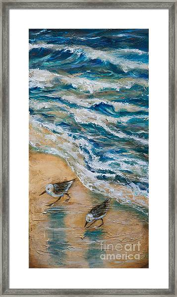 Two Pipers Along Shore Framed Print