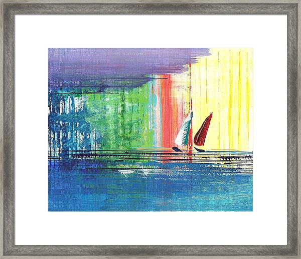 Two Sails Framed Print