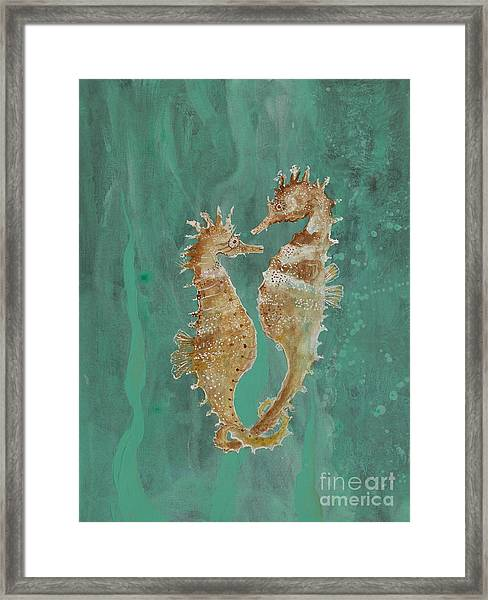 Two Seahorse Lovers Framed Print