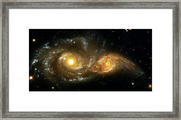 Two Spiral Galaxies Framed Print