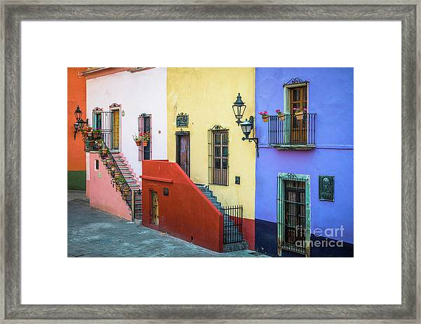 Two Staircases Framed Print