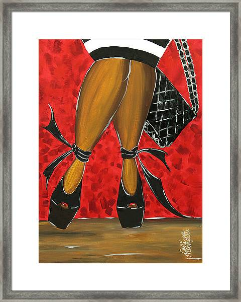 Two Stepping Framed Print