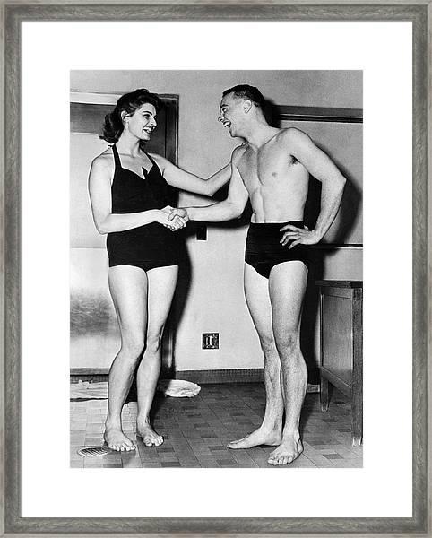 Two Swimming Stars Framed Print