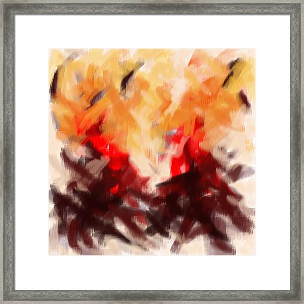 Two To Tango Abstract Framed Print