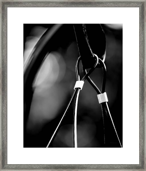 Two Wires On A Pole Framed Print