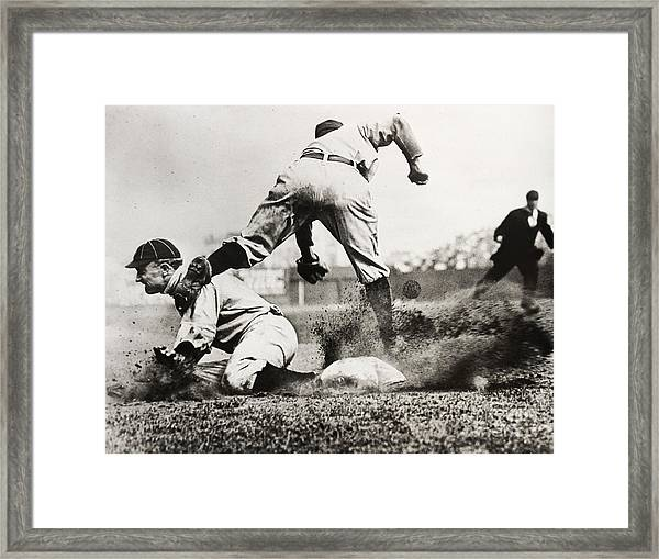 Ty Cobb Gets A Triple Framed Print