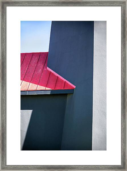 Tybee Building Abstract Framed Print