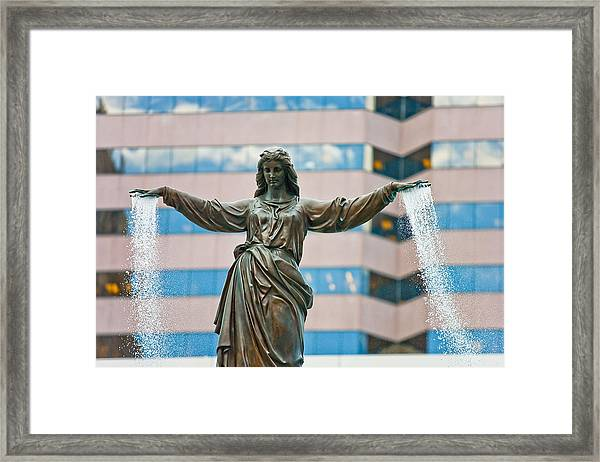 Tyler Davidson Fountain Framed Print