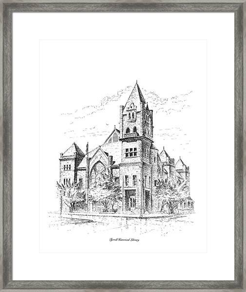 Tyrrell Historical Library Framed Print
