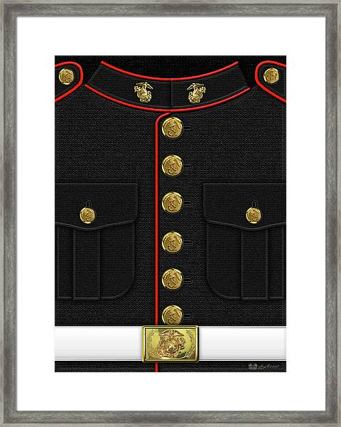 U S M C Dress Uniform Framed Print