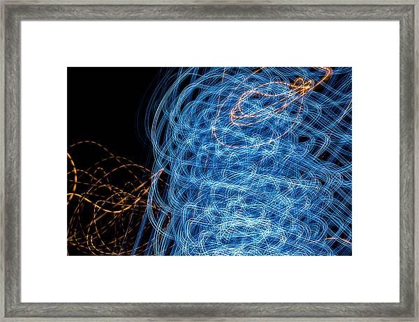 Ufa Neon Abstract Light Painting Sodium #7 Framed Print