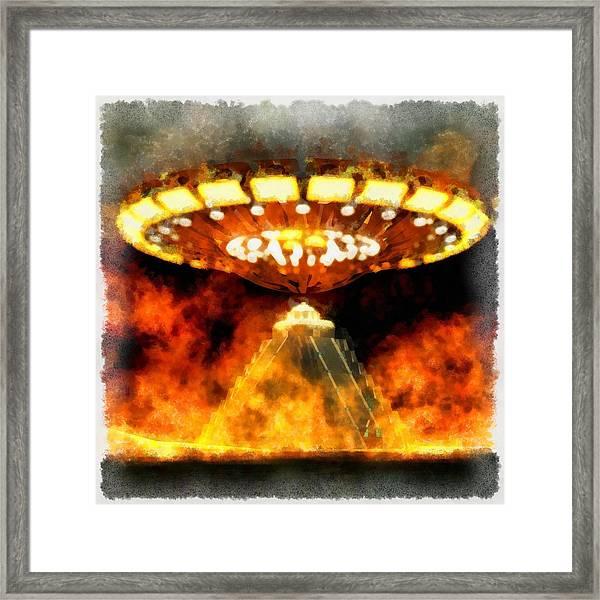 Ufo Mayans Framed Print