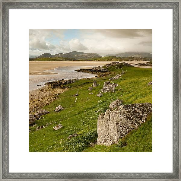 Uig Sands - Isle Of Lewis Framed Print