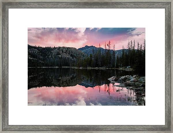 Uinta Sunrise Reflection Framed Print