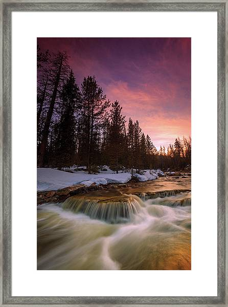 Uinta Waterfall Framed Print