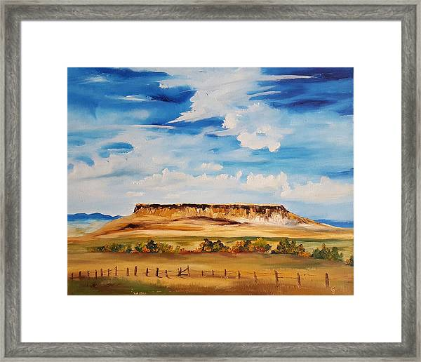Ulm Montana First People's Buffalo Jump   93 Framed Print