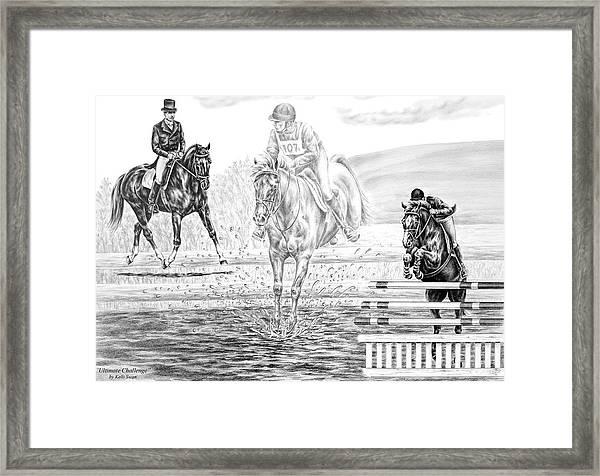 Ultimate Challenge - Eventing Horse Print Framed Print