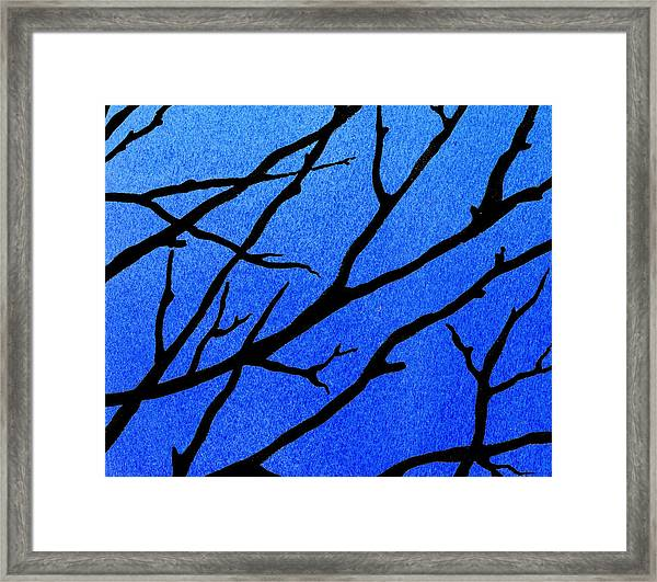 Ultramarine Forest Winter Blues II Framed Print
