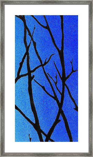 Ultramarine Forest Winter Blues IIi Framed Print