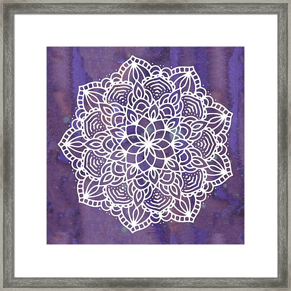 Ultraviolet Mandala Framed Print