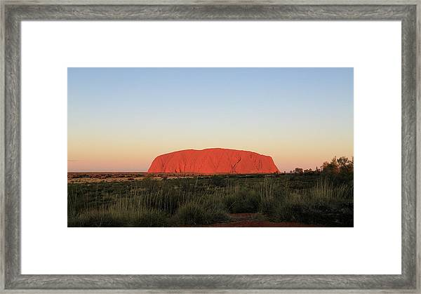Uluru At Sunset Framed Print