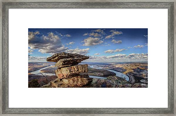 Umbrella Rock Overlooking Moccasin Bend Framed Print