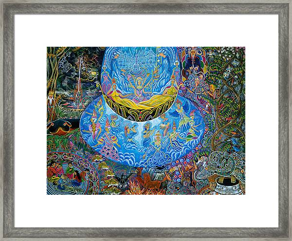 Framed Print featuring the painting Unai Shipash  by Pablo Amaringo