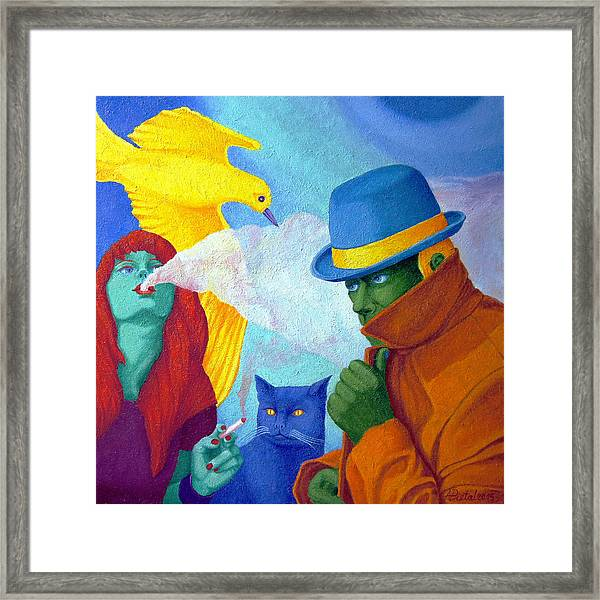 Unaware Of The Relationship. Framed Print