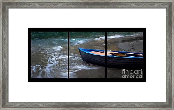 Uncertain Future Triptych Framed Print