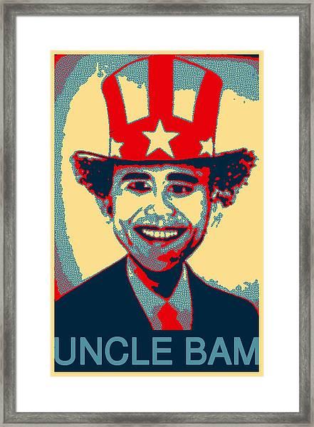 Uncle Bam Pop Framed Print by Teodoro De La Santa