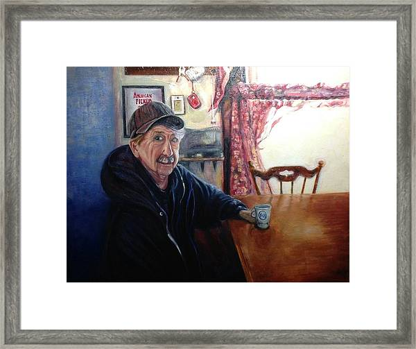 Uncle Harold, Maquoketa, Iowa Framed Print