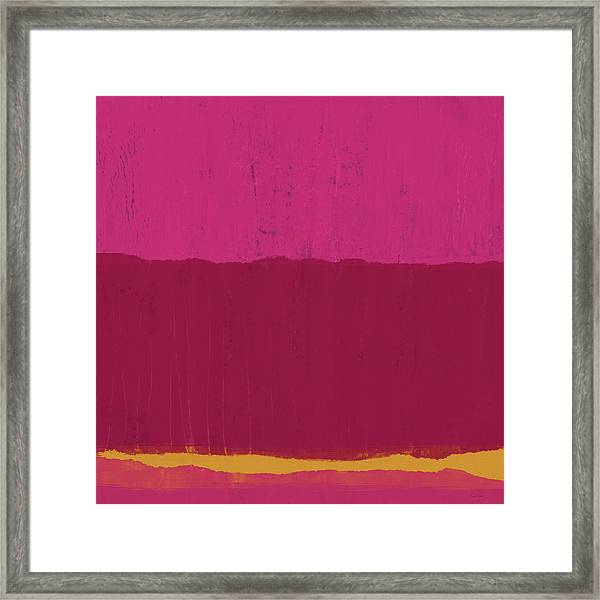 Undaunted Pink 2- Art By Linda Woods Framed Print