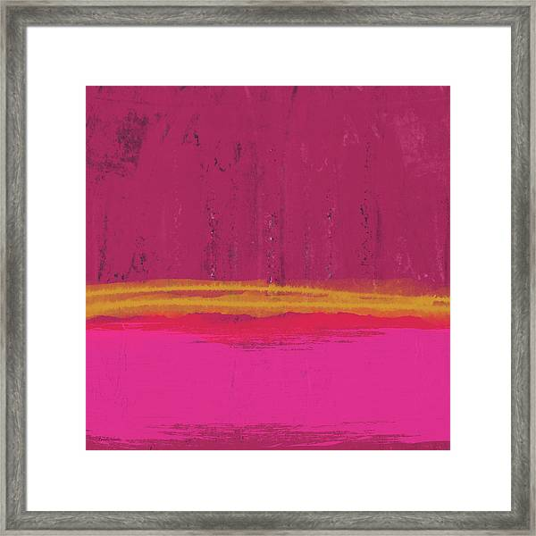 Undaunted Pink Abstract- Art By Linda Woods Framed Print