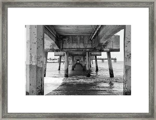 Under Belmont Veterans Memorial Pier Framed Print